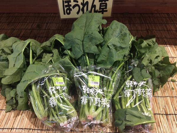 軽井沢霧下野菜・ほうれん草