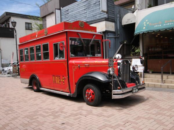 軽井沢を走るバス