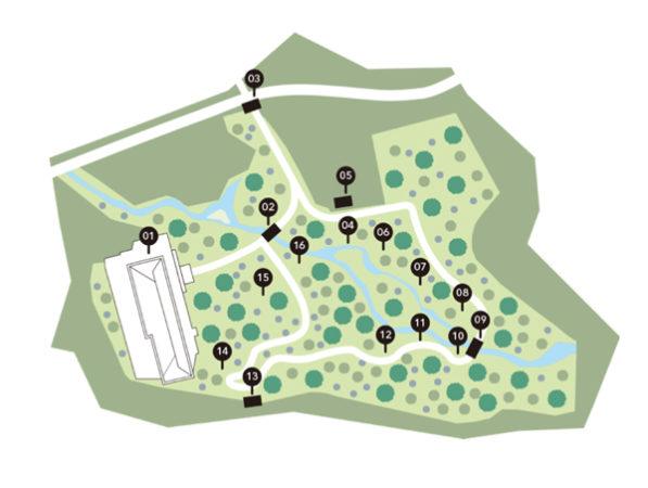 軽井沢セゾン美術館マップ