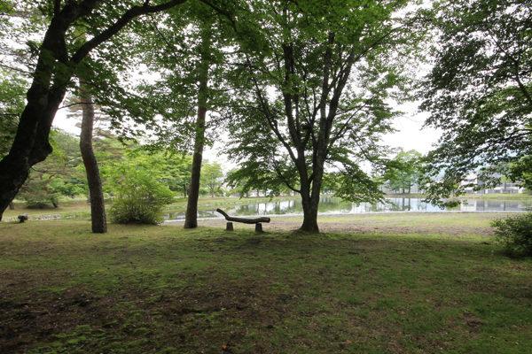 軽井沢雨宮御殿の池