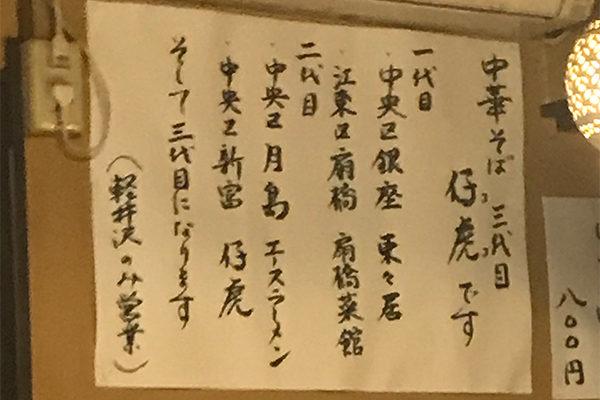 軽井沢・仔虎ラーメン 歴史