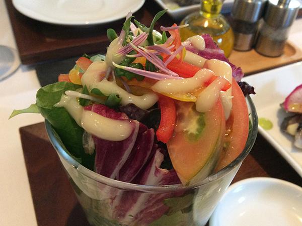軽井沢・シェ草間 サラダ オルトアサマのイタリア野菜